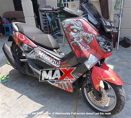 decal nmax merah 1 maxgraphica cutting sticker sidoarjo